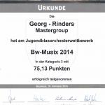 Urkunde BW Musix 14