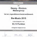 Urkunde BW Musix 15