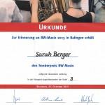 Sarah Urkunde